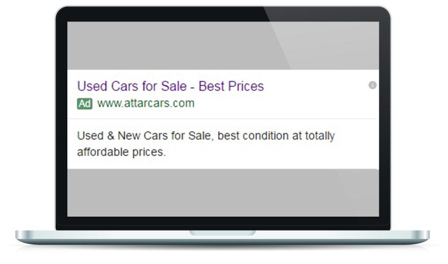 Attarcars Google Ad
