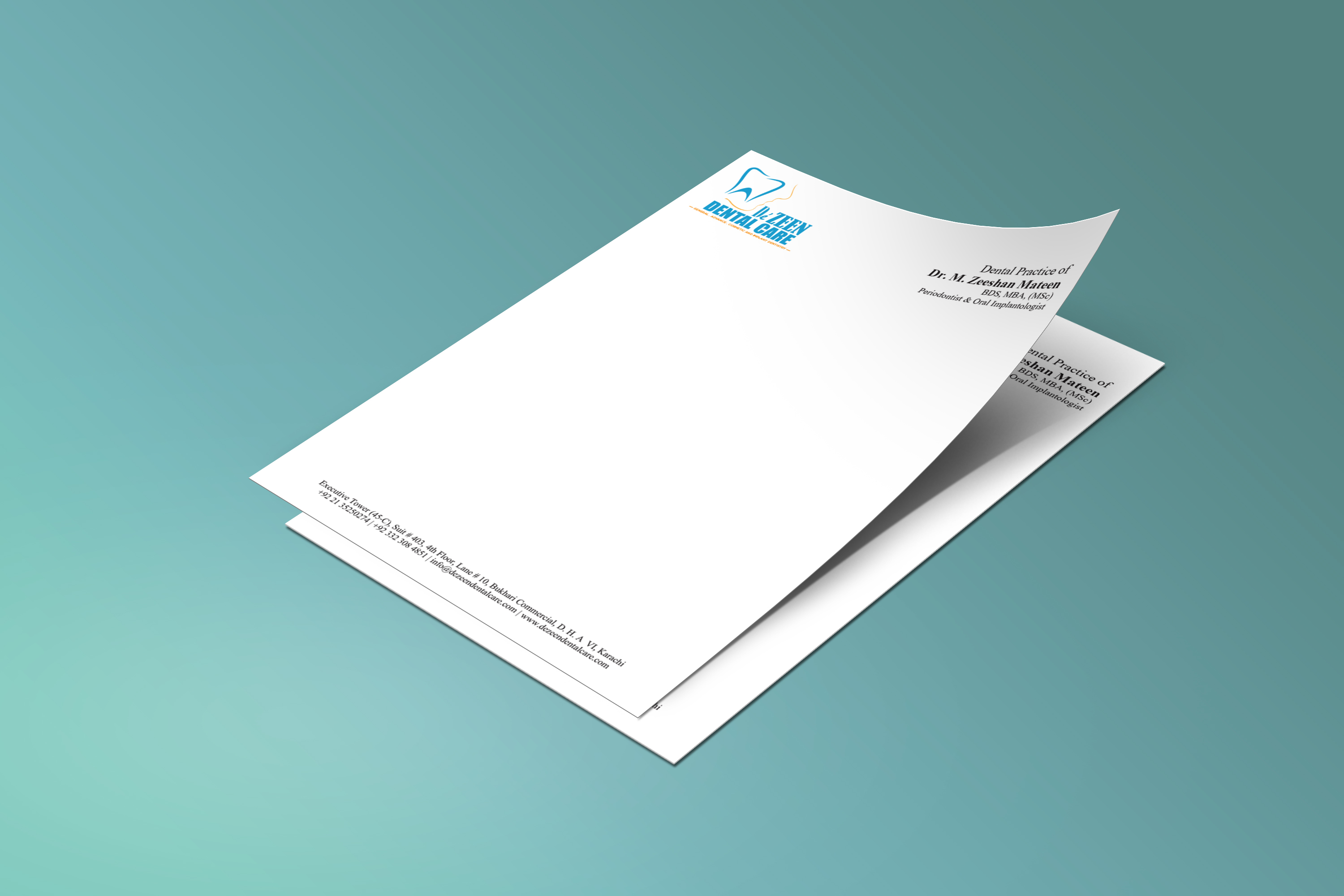 D Zeen Dental Letterhead