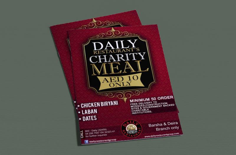 Daily Charity Menu