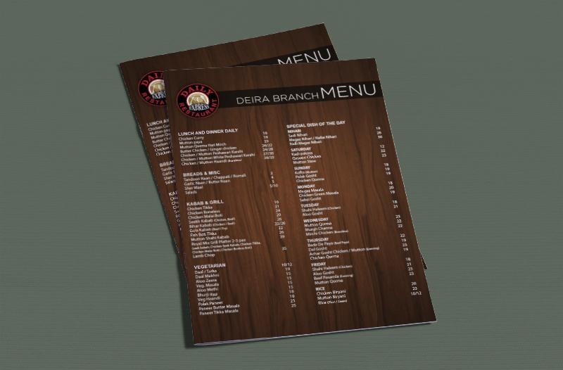 Daily Restaurant Menu