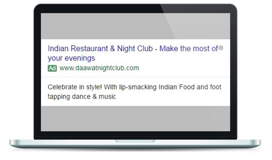 Dawat Night Club Google Ad