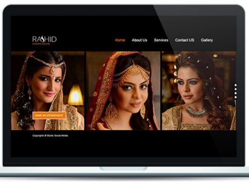 Rashid Salon Website