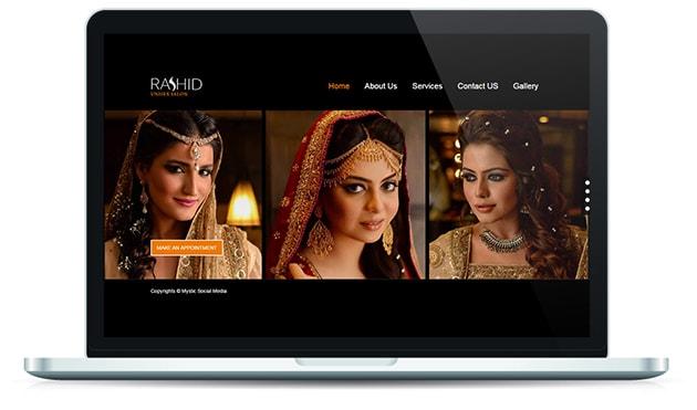 Rashid Salon Website