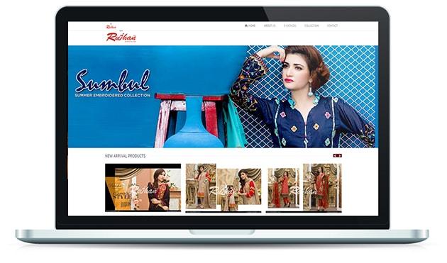 Rujhan Fabrics Website