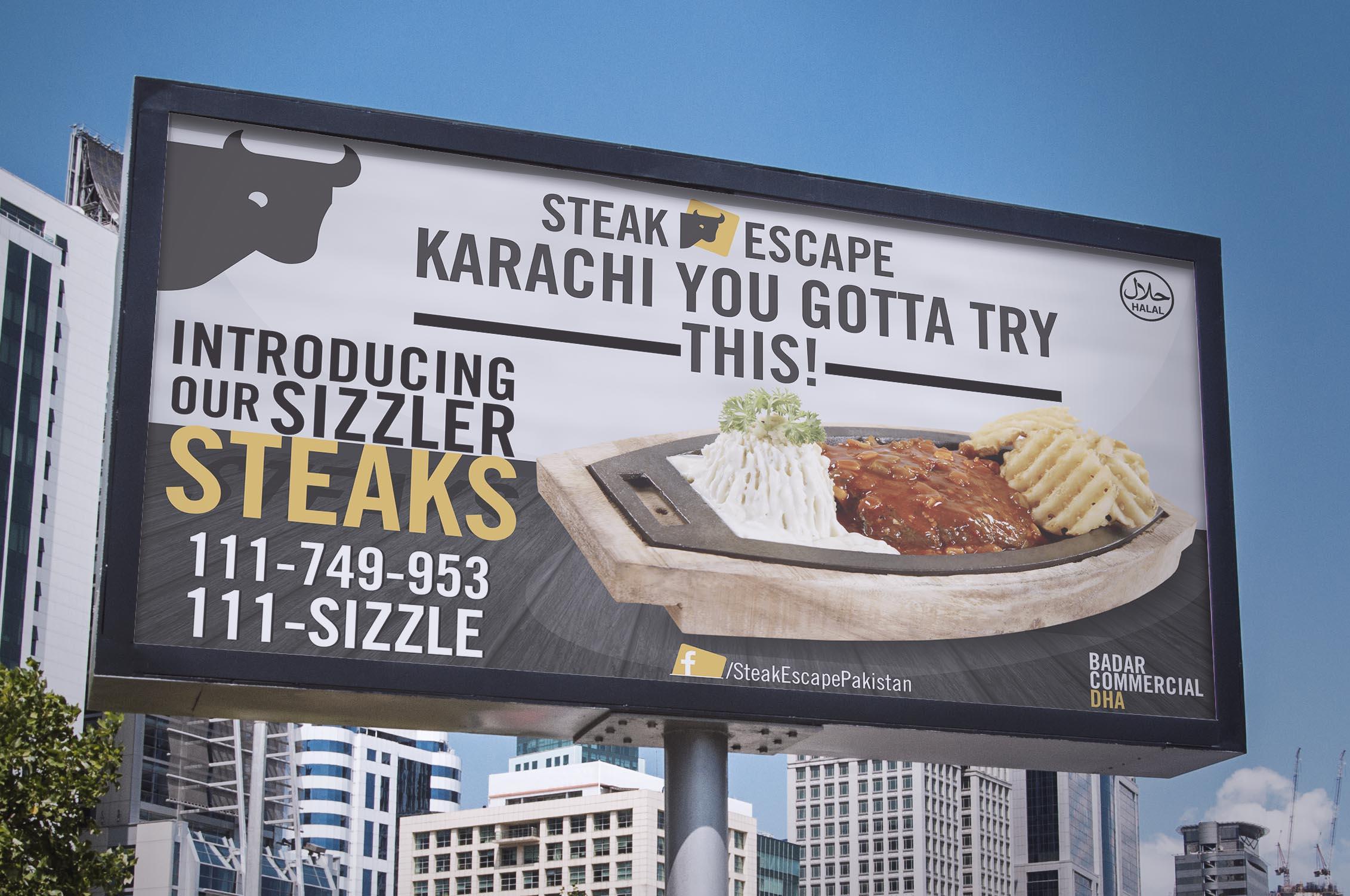 Steak Escape Billboard