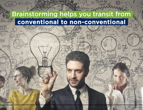 Brainstorming helps you transit from conventional to non-conventional